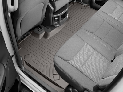 WeatherTech Rear FloorLiners provide the same high-quality protection to your vehicle's second and third rows.