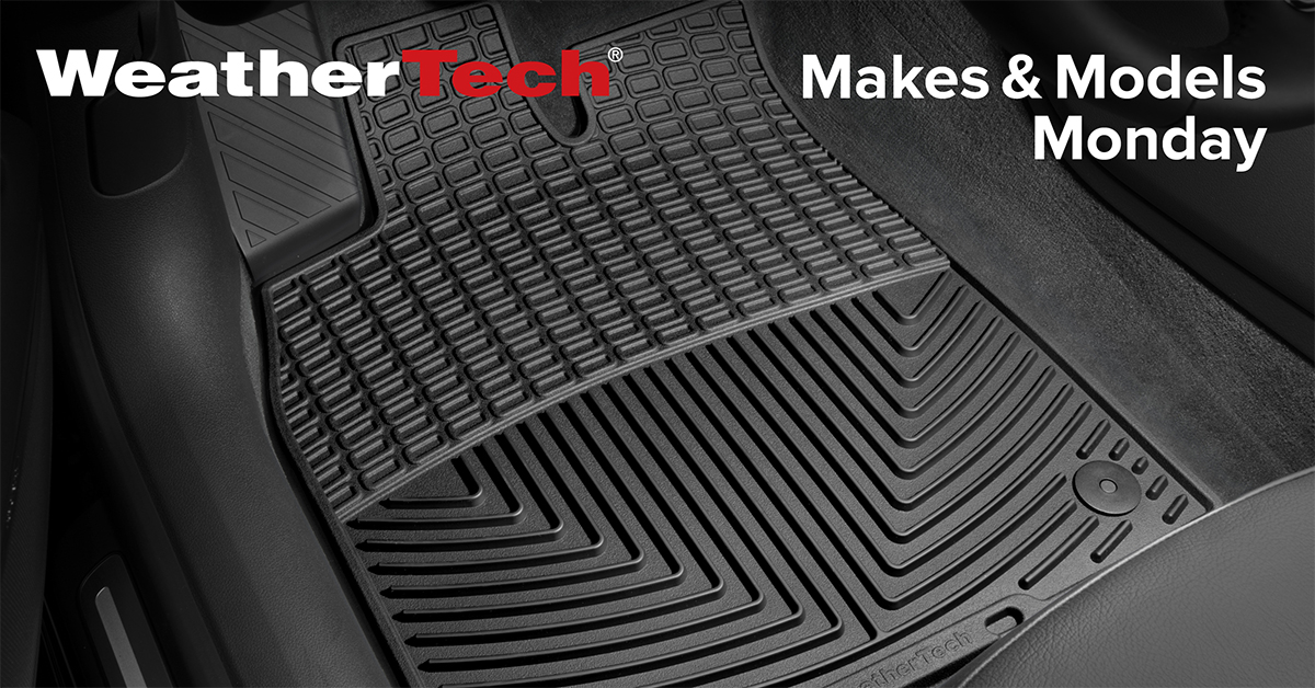 Black WeatherTech All-Weather Mat installed in a vehicle.