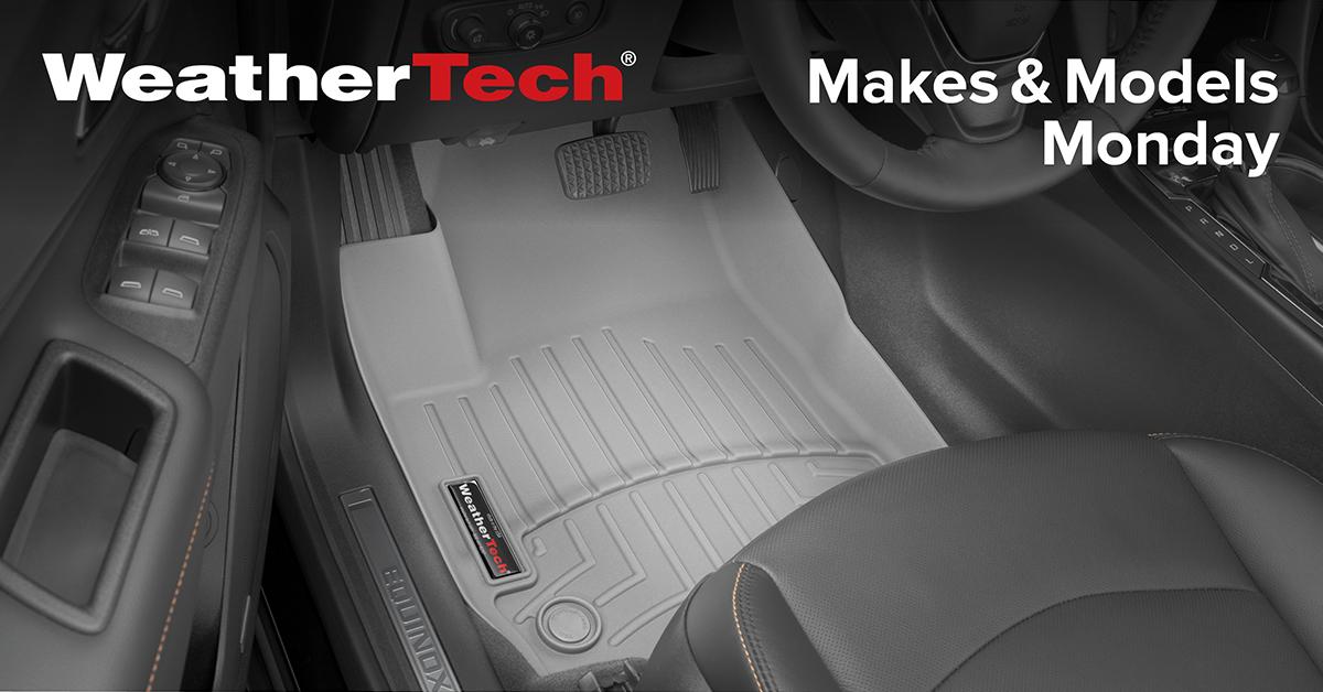 WeatherTech FloorLiner installed in a vehicle.