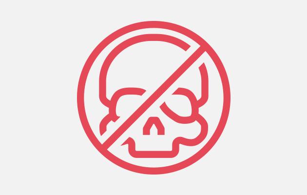 Red non toxic symbol.