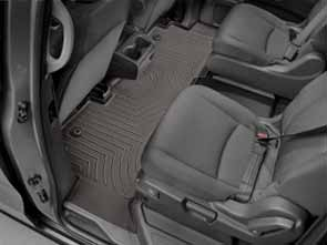 WeatherTech rear FloorLiner in cocoa, protects your rear carpet from all weather related messes.