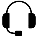 Headset with microphone.
