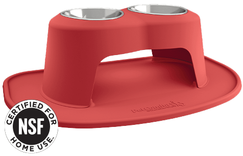 NSF Certified Pet Bowl along with feeding system.