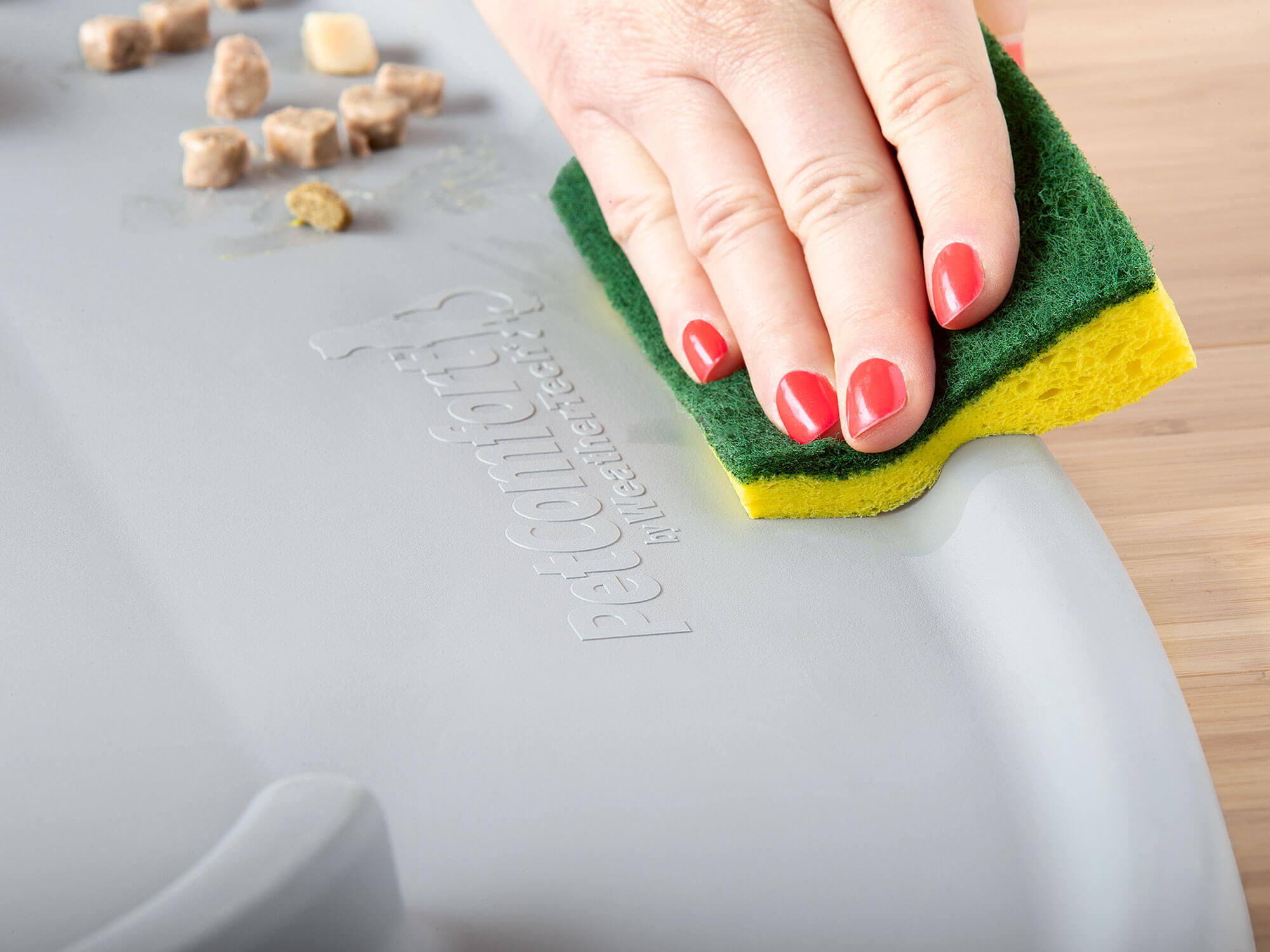The pet feeding station, and the WeatherTech dog bowls and cat bowls are easy to clean and dishwasher safe!