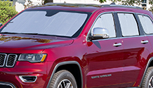 SunShade installed in red SUV.